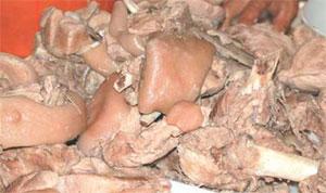 Frittuli e carcagnola di maiale foto: Vincenzo Raneri