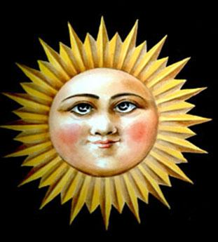 Rappresentazione del Sole in ceramica foto: Vincenzo Raneri